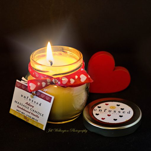 Unfussed Body and Beauty Massage Candle